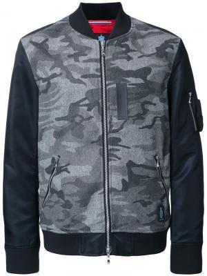 Куртка-бомбер с камуфляжным принтом Guild Prime. Цвет: серый