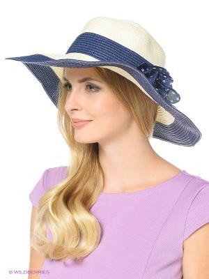 Шляпа HOBBY LINE. Цвет: кремовый, темно-синий