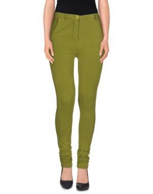 Повседневные брюки PEPEROSA. Цвет: зеленый-милитари