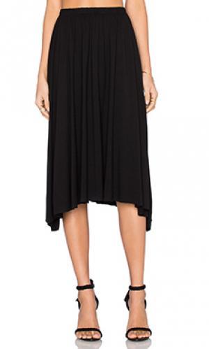 Плиссированная юбка rico Michael Lauren. Цвет: черный