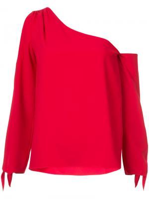 Блузка с открытым плечом Amanda Uprichard. Цвет: красный