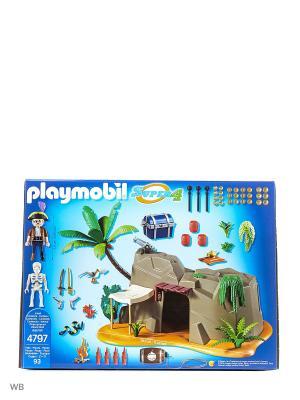 Супер4: Пещера Пирата Playmobil. Цвет: серый
