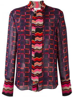 Блузка с принтом Steve J & Yoni P. Цвет: чёрный