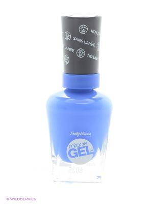 Гель лак для ногтей Miracle Gel, Тон 629 byte blue SALLY HANSEN. Цвет: синий