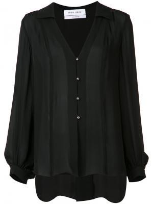 Блузка с V-образным вырезом Prabal Gurung. Цвет: чёрный