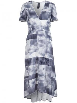 Платье с запахом Zero + Maria Cornejo. Цвет: белый