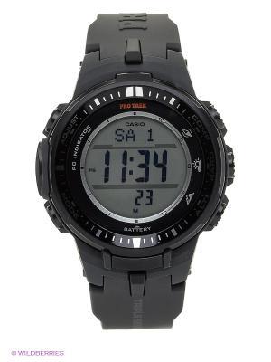 Часы PRO TREK PRW-3000-1E CASIO. Цвет: черный