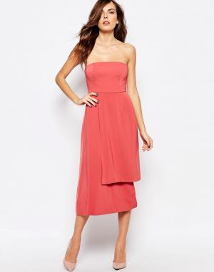 Keepsake Платье без бретелей Reality. Цвет: розовый