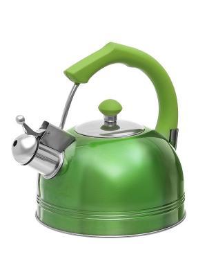 Чайник со свистком (газ/электро/индукция), 3 л BAYERHOFF. Цвет: зеленый