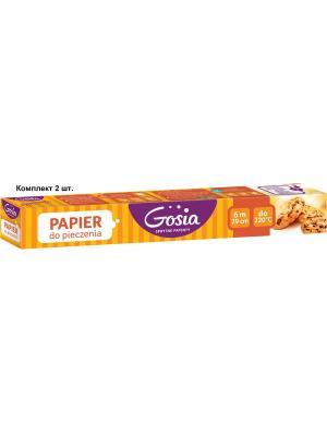 Комплект 2шт. Бумага для выпечки 6mх29cm в картоне GOSIA, 1356/3438 Politan. Цвет: светло-коричневый