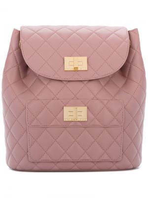 Quilted backpack Designinverso. Цвет: розовый и фиолетовый