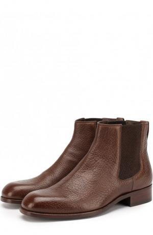 Классические кожаные челси Tom Ford. Цвет: коричневый