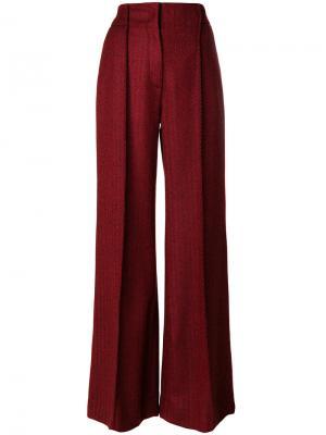 Высокие брюки клеш Miahatami. Цвет: красный
