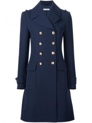 Двубортное пальто Altuzarra. Цвет: синий