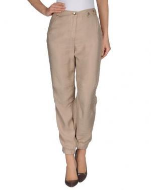 Повседневные брюки 22 MAGGIO BY MARIA GRAZIA SEVERI. Цвет: песочный
