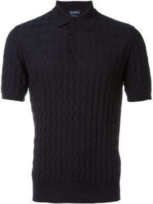 Классическая футболка-поло Ballantyne. Цвет: синий