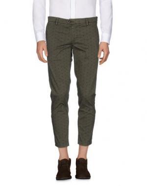 Повседневные брюки TAKESHY KUROSAWA. Цвет: зеленый-милитари