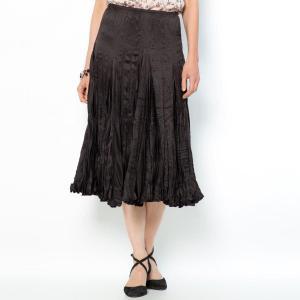 Длинная юбка из полиэстера ANNE WEYBURN. Цвет: серый