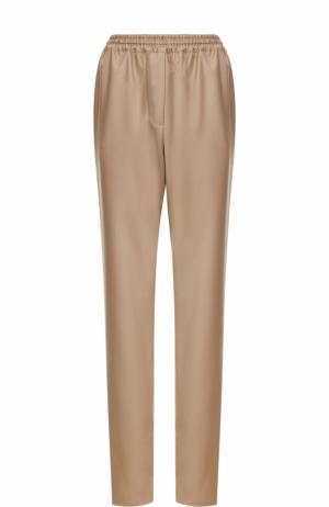 Шерстяные брюки прямого кроя Givenchy. Цвет: бежевый