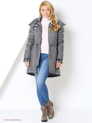 Куртка-парка DizzyWay. Цвет: серый