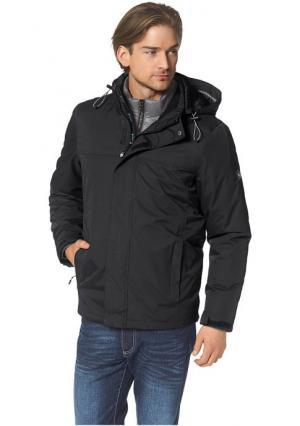 Куртка 3 в 1 POLARINO. Цвет: синий+черный, темно-серый+зеленый, черный + серый