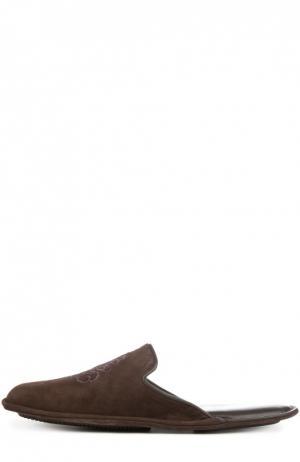 Замшевые туфли без задника Homers At Home. Цвет: коричневый