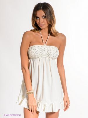 Платье Juicy Couture. Цвет: молочный