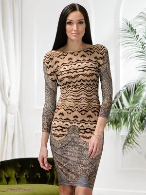 Платье Lussotico. Цвет: коричневый