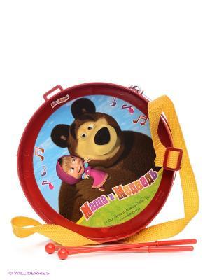 Барабан Маша и медведь Играем вместе. Цвет: красный