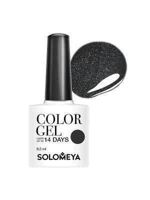 Гель-лак Color Gel Тон Cartwheel SCG140/Картвил SOLOMEYA. Цвет: черный