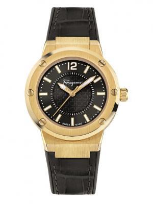 Часы наручные Salvatore Ferragamo. Цвет: черный, золотистый