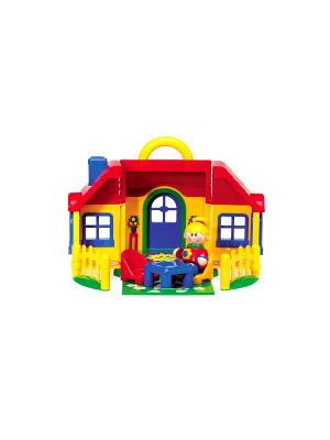 Набор игрушек Домик Tolo. Цвет: желтый