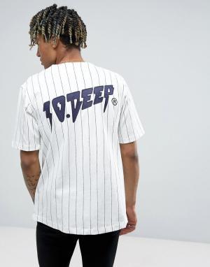 10 Deep Бейсбольная футболка в полоску 10.Deep. Цвет: белый