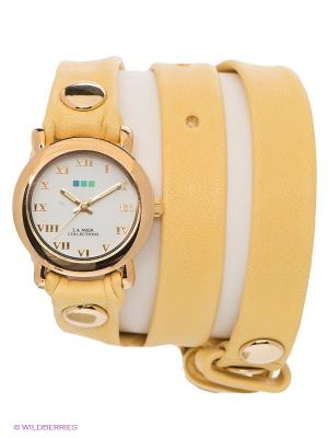 Часы La Mer Collections. Цвет: желтый, золотистый
