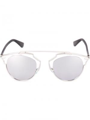 Солнцезащитные очки Dior So Real Eyewear. Цвет: металлический
