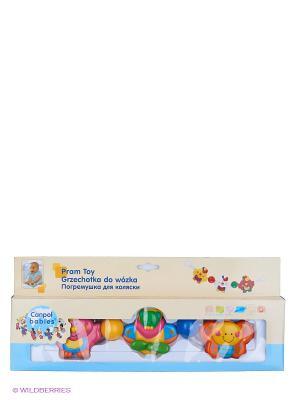 Погремушка на коляску Canpol babies. Цвет: желтый, синий, зеленый, оранжевый, розовый