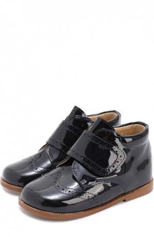 Лаковые ботинки с брогированием Clarys. Цвет: синий