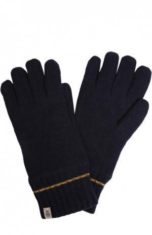 Вязаные перчатки Roeckl. Цвет: темно-синий