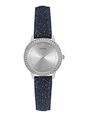 Часы GUESS. Цвет: темно-синий, серебристый