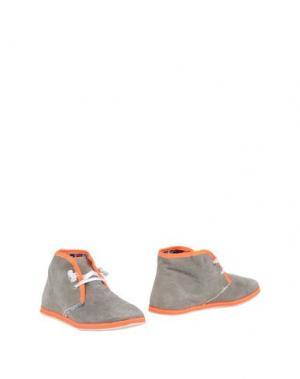 Полусапоги и высокие ботинки LE CROWN. Цвет: бежевый