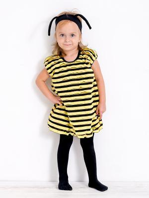 Карнавальный костюм Пчелка MilleFaMille. Цвет: черный, желтый