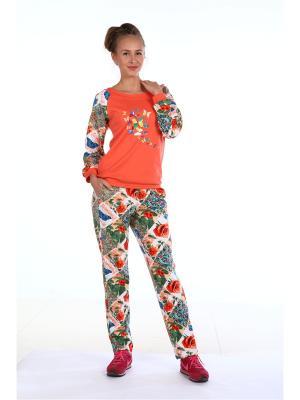 Пижама Pastilla. Цвет: красный, оранжевый