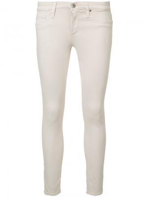 Укороченные джинсы скинни Ag Jeans. Цвет: розовый и фиолетовый