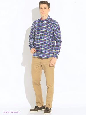 Рубашка Eden Park. Цвет: темно-синий, зеленый, малиновый, желтый