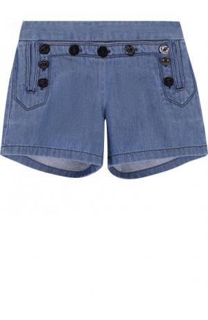 Джинсовые шорты с эластичной вставкой на поясе Chloé. Цвет: голубой