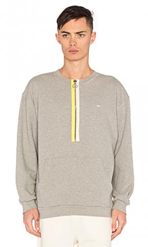 Zipper crewneck Mr. Completely. Цвет: серый