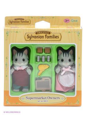 Набор Владельцы супермаркета Sylvanian Families. Цвет: серый, серебристый, бежевый, желтый