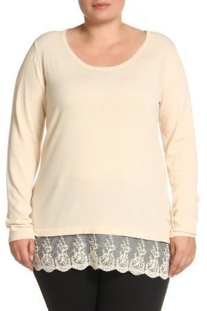 Пуловер LAVELLE. Цвет: бежевый