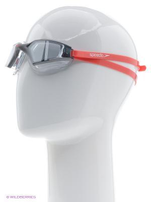 Очки для плавания Speedo. Цвет: серый, красный