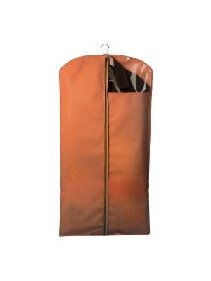 Чехол для костюмов и платьев Miolla. Цвет: оранжевый